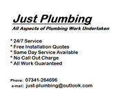 *Just Plumbing* - 24/7 Emergency - Plumbing - Heating - Bathrooms - Showers - Drainage -