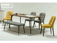 BRANDNEW DINING TABLE AND CHAIRS, WOOD, MODERN and PRACTICAL!! £499