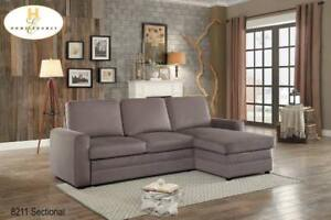 Reversible Sectional with Pull-out Bed and Hidden Storage (MA387)