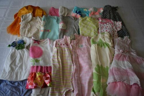 Used 18 Pc. Lot Of Baby Girl Clothes 3-6 Months Euc/vguc