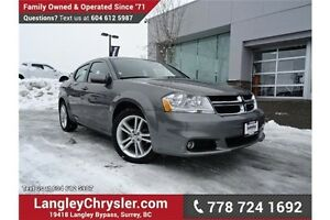2013 Dodge Avenger SXT ACCIDENT FREE w/ HEATED FRONT SEATS