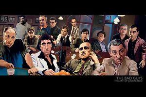 BAD GUYS 24x36 poster TONY SOPRANO SCARFACE GODFATHER GOODFELLAS DENIRO PACINO!!