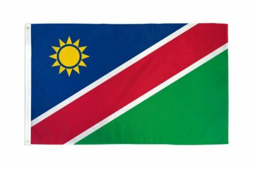 The flag of Namibia, Red Green Blue & Golden, 3 X 5 ft Condition is BRAND NEW !