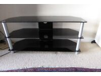 Dark Glass TV table stand