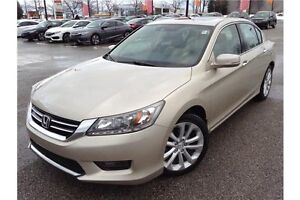 2014 HONDA ACCORD TOURING V6 - LEATHER INT - SUNROOF - GPS NAV