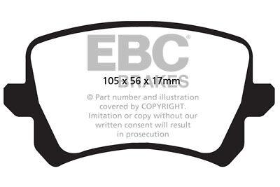 EBC Greenstuff Rear Brake Pads Audi Q3 Quattro 2.0 Turbo (211 BHP) (2011 > 15)