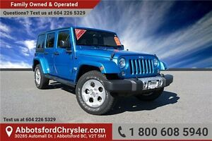2015 Jeep Wrangler Unlimited Sahara W/ Bluetooth Hands Free