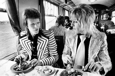 8x10 Print David Bowie Gutarist Mick Ronson 1973 #DB73