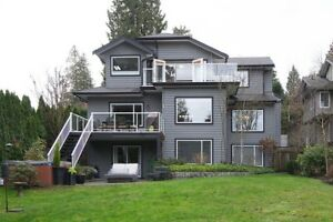 Executive home water mountain views in Deep Cove