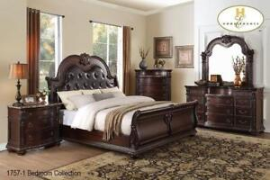 Solid Wood Traditional Bedroom on Sale - 8 PC Queen Set (BD-2324)