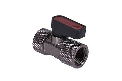 Phobya 2 Way Ball Valve G1/4 Knurled - Black Nickel