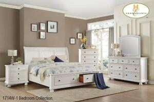 WHITE KING SIZE BEDROOM SET | WHITE 6PCS. BEDROOM SET KING (MA2216)