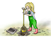 Gully, Drain, Sump Grab/Scoops for cleaning out leaves, dirt, mud, stones. Three sizes.