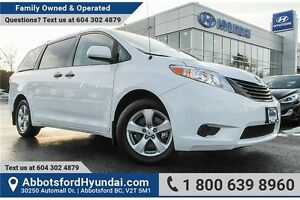 2013 Toyota Sienna V6 7 Passenger LOW KILOMETRES & LOCALLY OWNED