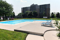 Pool, gym and balcony! 1 and 2 BDRM apartments in Westmount!