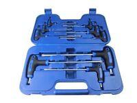 BERGEN 9 Piece Pro T Handle Torx Tool Set T10 To T50