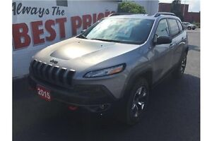 2015 Jeep Cherokee Trailhawk 4X4, NAVIGATION, LEATHER