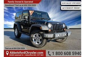 2013 Jeep Wrangler Sport ACCIDENT FREE!