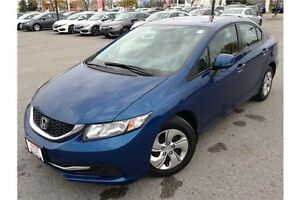 2013 HONDA CIVIC LX - AUTOMATIC - CLOTH INTERIOR - BLUETOOTH