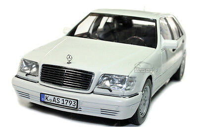 1997 mercedes benz s600 v12 die cast model car 1 18 white for 1997 mercedes benz s600