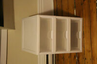 3 Stackable Plastic Storage Drawers