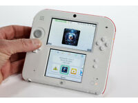 NINTENDO 2DS WHITE AND RED WITH NEW SUPER MARIO BROS GAME AND CHARGER