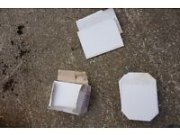 20 or so unused ceramic white floor and wall tiles