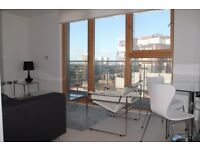 Modern 18th floor property with balcony with great views! 1 double bedroom + concierge + location!JS