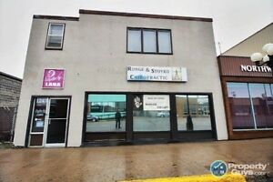 High traffic main st commercial property w adjacent fenced lot