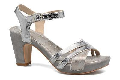 Khrio MIA Leather Crossover Heeled Sandals Ankle Straps UK5.5 EU39 LG04 52 SALEs