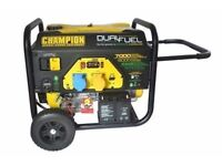 NEW CHAMPION 7000 WATT DUAL FUEL GENERATOR , PETROL OR GAS ,BALLYNAHINCH, SUITABLE - CATERING VANS