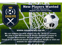 PLAYERS WANTED FOR NEW FOOTBALL CLUB IN MANCHESTER
