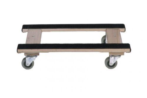 Wood 4-Wheel H Dolly - Heavy Duty Swivel Casters