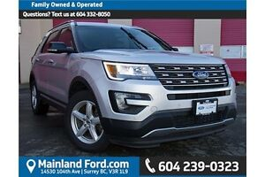 2016 Ford Explorer XLT LEATHER SEATS, ONE OWNER, LOCAL CAR