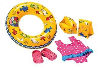 Puppen-Schwimmset mit Zubehör, Größe 35 - 45 cm