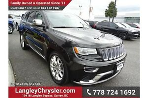 2014 Jeep Grand Cherokee Summit w/Navigation & Sunroof