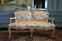 Antique French Petite Settee - free delivery