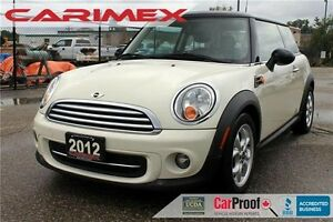 2012 Mini Cooper | Sunroof | Bluetooth | CERTIFIED
