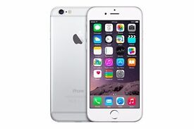 iPhone 6 16GB Unlocked Silver & White Excellent condition + Free Accessories + Box