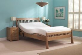 Brand New Double 4ft Adjustable Carers Bed with Vertical Lifting Frame (High-Low Frame)