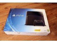 Black PS4 Console B Chassis 500GB with wireless controller in excellent condition
