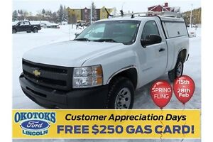 2010 Chevrolet Silverado 1500 WT Capped utility truck with si...