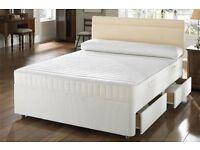 Single/Double/Small Double/Kingsize Divan Bed Base13inch Memory Foam Orthopaedic Mattress- Brand New