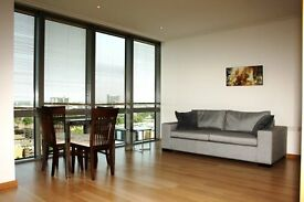 Stunning 1 bed apartment in iconic Canary Wharf development, West India Quay-Tg