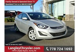 2016 Hyundai Elantra GL LOCALLY DRIVEN & ACCIDENT FREE