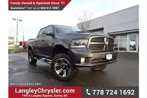 2015 RAM 1500 Sport FULLY LOADED & ACCIDENT FREE w/ ONE OWNER