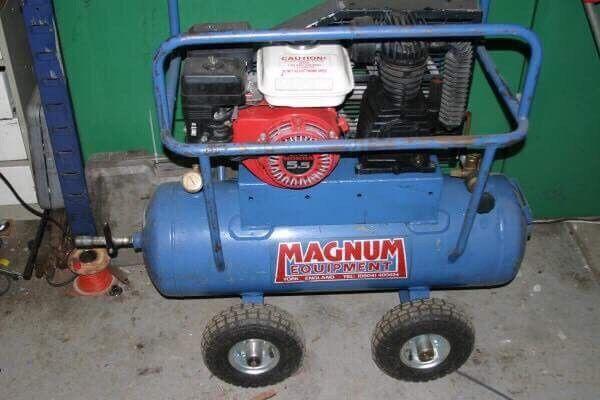 Honda petrol powered air compressor