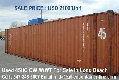 Container Long Beach 20 Ft 1650cw Unit 40ft 1850cw 40 Hc 1900unit45ft 2100