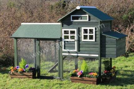 X-Large Chick Coop with Nesting box for 6 Chickens * CH077 KATIE*