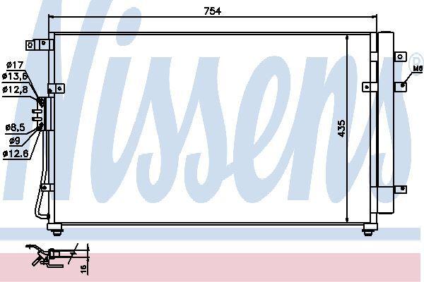 Nissens Condenser 940269 Fit with Kia Sedona
